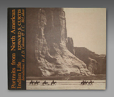 1972 EDWARD S. CURTIS Portraits from North American Indian Life - Lg. Folio Book