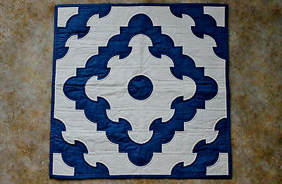 Hand Quilted Drunkard's Garden Wall Hanger/Table Mat signed/dated/titled 1993