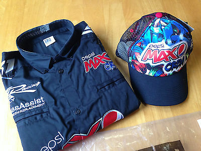 Pepsi Max Crew Shirt and Cap - Large - New w/Tags - Ford V8 Supercar Greg Murphy