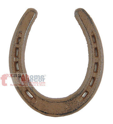 Lucky Horseshoe Cast Iron Decorative Rustic Brown Western Decor 5 1/2 x 4 3/4 in
