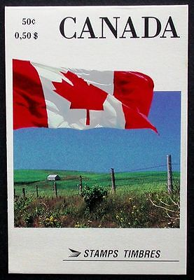 Canada Stamps -Booklet of 4 in Cover -Booklets Issues: Flags #1189a (BK111) MNH