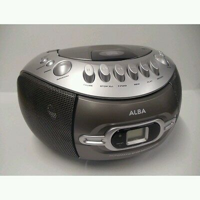 ALBA CD Boombox with Cassette Player and FM Radio