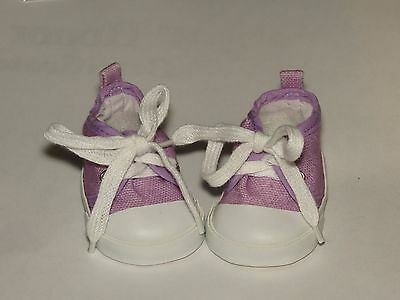 Shoes 2 Fit The Galoob Baby Face American Girl Doll Soft Purple Hightop Tennis