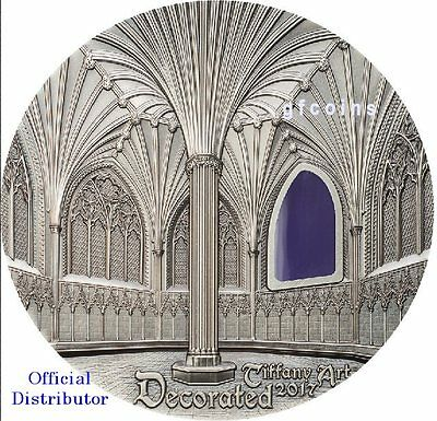 Palau 2017 $10 Tiffany Art WELLS CATHEDRAL Decorated Lady Chapel Chapter House