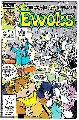 EWOKS #8 (VF) Low Print! Hard To Find! Rare! Marvel Star Wars 1986 Copper-Age