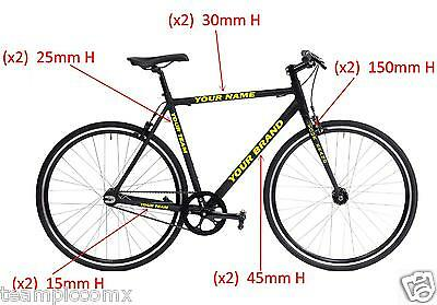 personalized mountain bike frame full stickers decals kit 10 decals custom