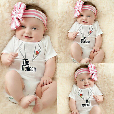 Newborn Infant Baby Girl Boy Summer Clothes Playsuit Romper Bodysuit Outfits