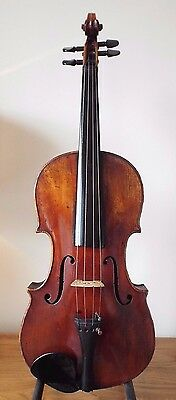 "OFFER for SUPERB  ANTIQUE  circa 19th  VIOLIN - 4/4  LOB 14 1/8 ""  + HARD CASE"