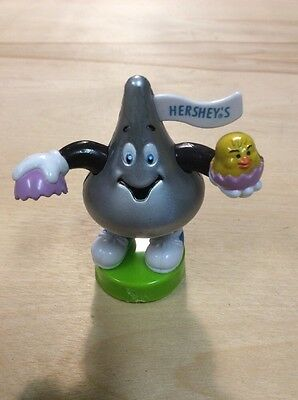 PVC FIgure Stamp Hershey's KIss Easter Egg Vintage Advertising Hershey Chocoalte