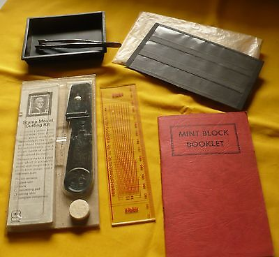 Philatelic Supplies Lot - Tongs Perforation Glassines Watermark Stamp Collecting
