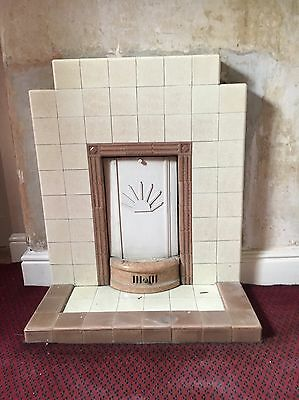 1930s STYLE TILED VINTAGE FIREPLACE SURROUND