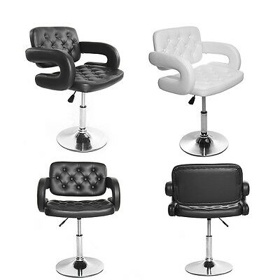 Black / White  Salon Quilted Leather Style Tub Barber Chair Beauty Hairdresser