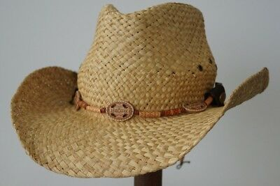 Cowboy Western Straw Hat with Flexfit Sweatband