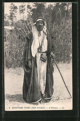 remarquable CPA A Bedouin, Portrait eines Nordafrikaners