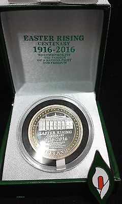 1916 Irish Easter Rising Commemorative Centenary Coin -With FREE EASTER LILY PIN
