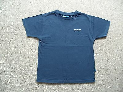 Boys Donnay Navy Blue T-shirt Cotton Age 5-6 years