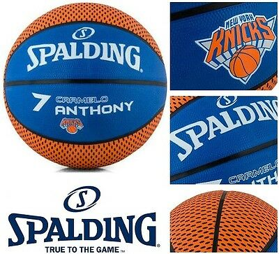 New SPALDING New York Knicks Carmelo Anthony NBA Outdoor Basketball | RRP $39.95