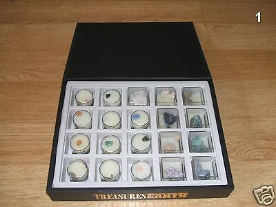 TREASURES OF THE EARTH COLLECTION : Presentation Box Of 20 Minerals / Stones