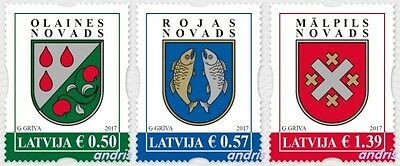 Latvia 2017 (01) Coat of Arms - Districts of Latvia