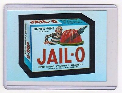 """2014 Wacky Packages Chrome Series 1 """"jail-O"""" #31 Refractor Card"""