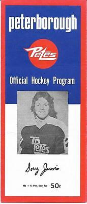 Peterborough Petes ON Canada - USSR Russia Junior 1974-75 Official Program
