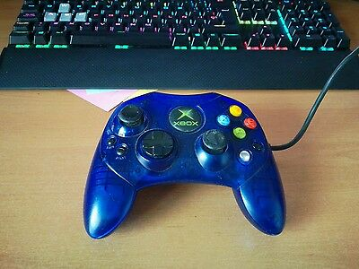 Original Blue Game Pad Controller For The Classic Xbox