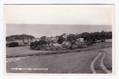 P3314 Original old RP postcard of General View, Llwyngwril, Merionethshire