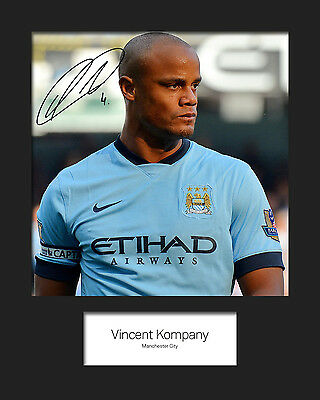 VINCENT KOMPANY - MANCHESTER CITY Signed 10x8 Mounted Photo Print - FREE DEL