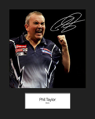 PHIL TAYLOR #1 Signed 10x8 Mounted Photo Print - FREE DELIVERY