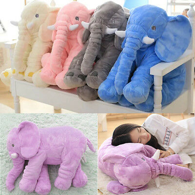 !*Baby Kids Stuff Long Nose Elephant Soft Doll Toys Lumbar Pillow Plush Gift!W