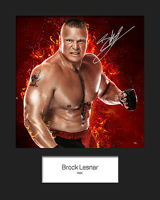 BROCK LESNAR #1 (WWE) Signed 10x8 Mounted Photo Print - FREE DELIVERY