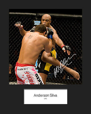ANDERSON SILVA #1 (UFC) Signed 10x8 Mounted Photo Print - FREE DELIVERY
