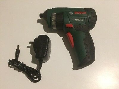 Bosch PSR Select 12 Bit 3.6V 1.5Ah Li-Ion Cordless Screwdriver includes charger