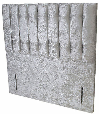 Crushed Silver Luxury Headboard Double King Floorstanding Standard Shelly
