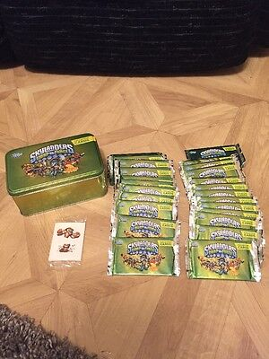 Tops Sky landers Swap Force Trading Cards Collection 24 Sealed Packs + free Tin