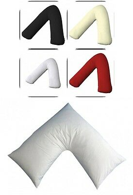 Duck Feather & Down V Shaped Pillow Nursing Pregnancy Support Anti Dust Mite
