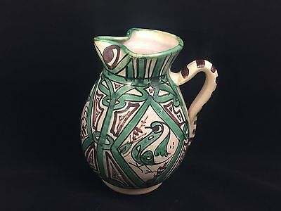 Punter Picasso Style Vase Ceramic Pitcher Italy Pottery Birds