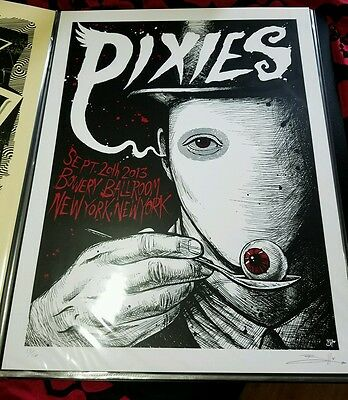 The Pixies, NYC 9/20/13 signed and numbered artist edition