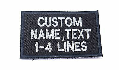 """CUSTOM NAME TEXT ARMY MILITARY BIKER HOOK PATCH 3""""- 6"""" x 2"""" 1-4 LINES"""