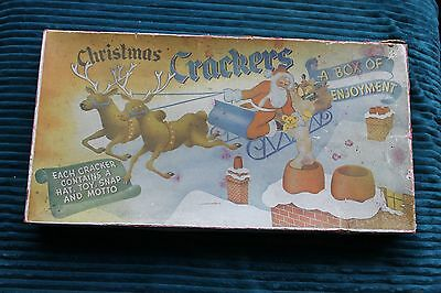 1940/50s Christmes Crackers, 12 in box.  'Box of enjoyment'