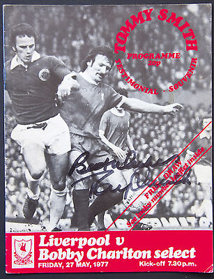 Tommy Smith Testimonial Souvenir Programme Signed by Moore etc.