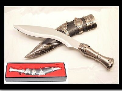 Stainless Steel Ghurka Kukri Knife Sword Dagger with Scabbard
