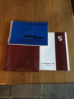 Porsche 911 SC 1979 Drivers Manual & Service book