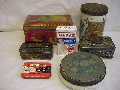 Collection Of 7   Assorted Vintage Tins