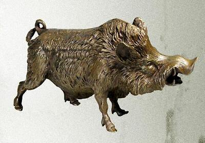 21cm Lucky Chinese antique bronze wild boar(Yellow) statues.#dyb10