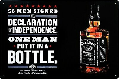 JACK DANIELS METAL wall plaque, 20x30 cm tin sign for bar, pub, shed ...
