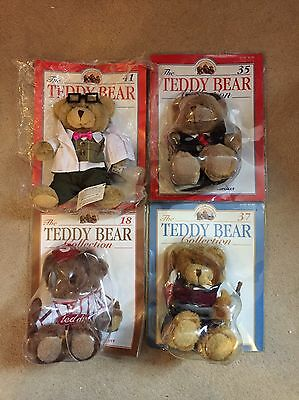 Very Rare The Teddy Bear Collection Magazine And Bears X 4