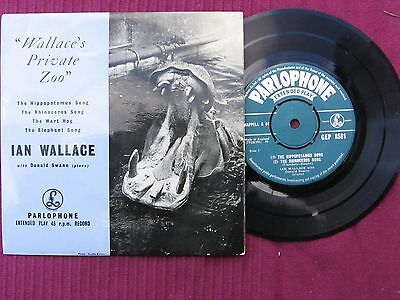 "Ian Wallace  "" Wallace's Private Zoo ""  7"" 45 vinyl E.P. 'record Issued 1950s"