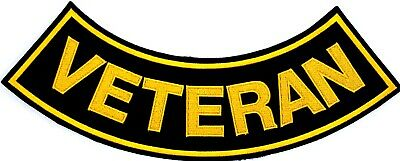 "Veteran Military Motorcycle Biker Vest 11"" Rocker Embroidered Patch Cl-37"