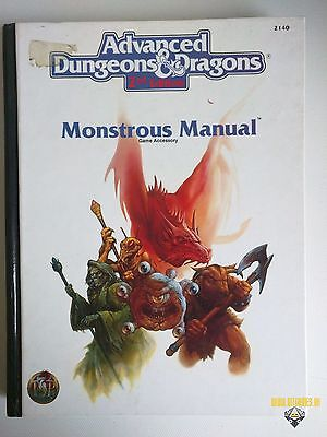 AD&D MONSTROUS MANUAL Dungeons & Dragons 2 nd ed TSR 2140